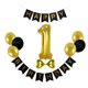 "Happy Birthday Banner Pink Gold Party Supplies 1st Birthday Balloons 10"" Latex Round Ballon Girl Baby Shower Decorations Set"