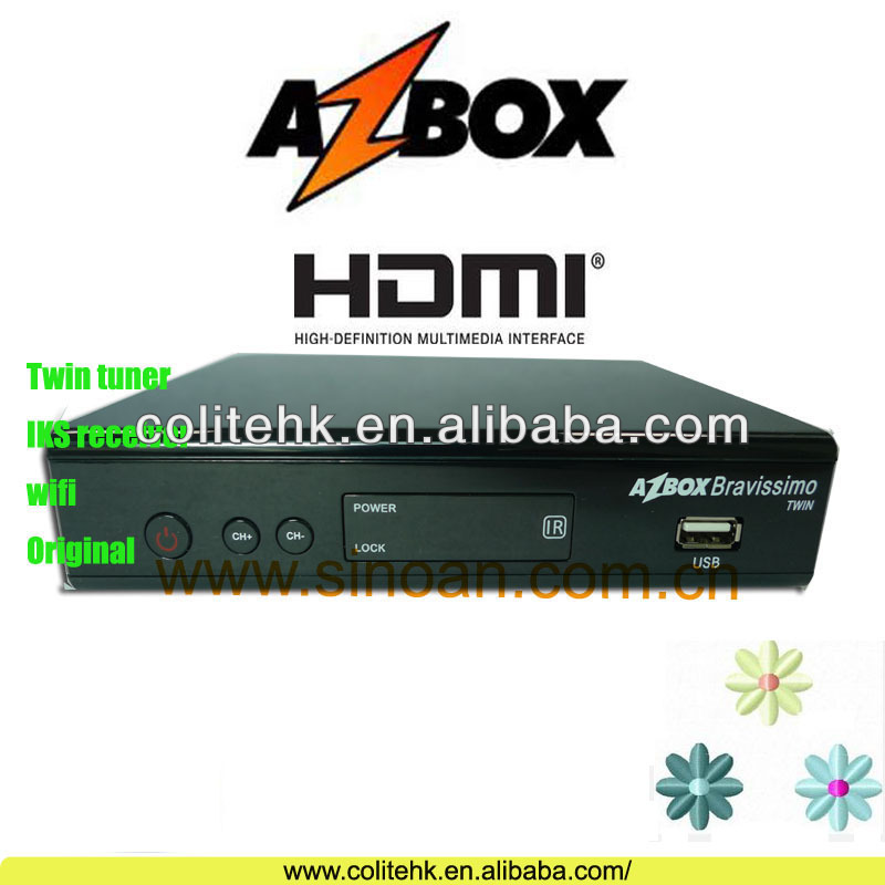 Azbox Bravissimo Twin Tuner Nagra3,Original Azbox Bravissimo,tocomsat,azamerica s1001 The Best DVB-S2 Receiver In South America