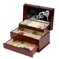 High quality Wooden Jewellery box with mirror drawer