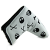 Cute White Skull Golf Putter Covers Headcovers PU Leather Blade Club Head Cover Custom Made