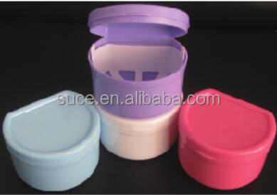 Dental denture storage box teeth container with net