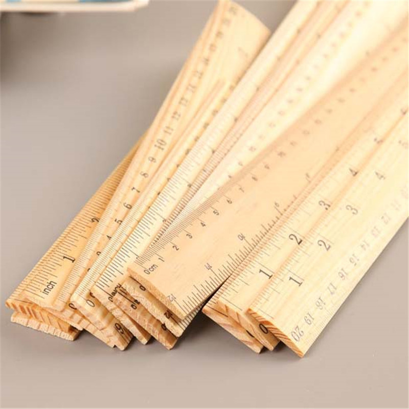 2020 New Products Custom Wood Thin Durable 15cm 20cm Wood Ruler