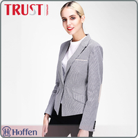 OEM mordern one button office uniform or business slim fit female blazer