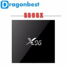 X96 quad core tv box amlogic s905X firmware Ram 1G Rom 8G Android 6.0 Marshmallow tv box