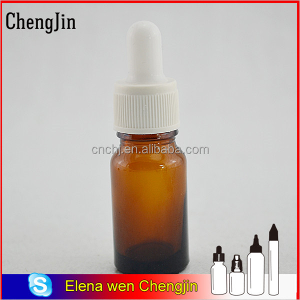 China wholesale swing top 10ml clear amber green blue black dropper small glass medicine bottles with childproof cap