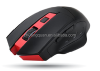 High quality wireless mouse LED light decorate on LOGO with auto sleep mode function