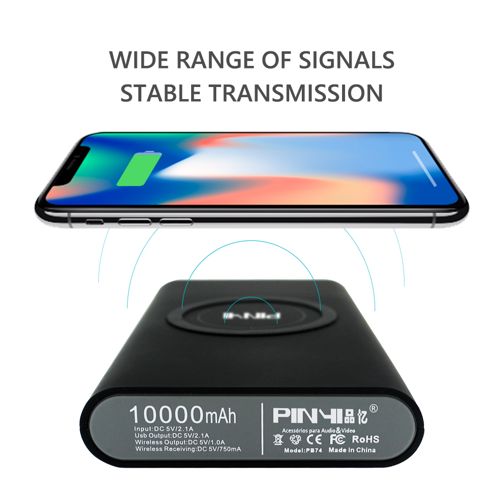 2018 trend product new arrival 10000mah power bank wireless charger qi for iphone x