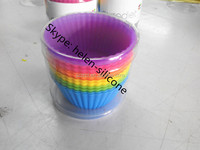 12 Packed Silicone Baking Cups BPA Free Silicone Cupcake Liners with 6 Vibrant Colors As Seen on TV