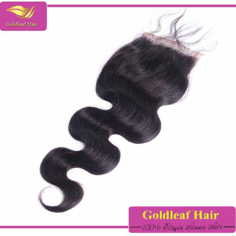 Grade 7A body wave peruvian hair closure piece ,free/middle parting/three part ,3 way part lace closure with baby hairs