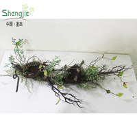 high quality artificial natural swag wicker bird nest swag hanging christmas swag decoration
