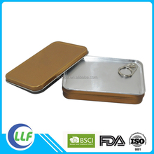 rectangle pop top pill tin box