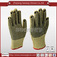 Seeway PVC Coated Non-slip Aramid Cut Resistant Gloves