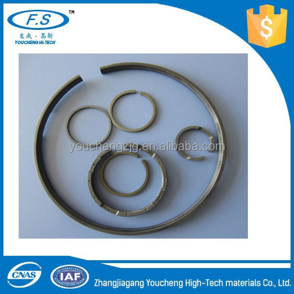 High temperature, abrasion and corrosion resistant peek plastic split ring