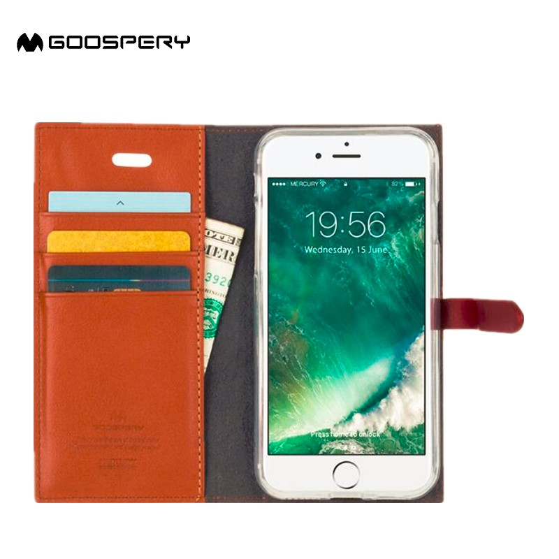 GC PU leather wallet flip cover case for oppo f1 cell phone