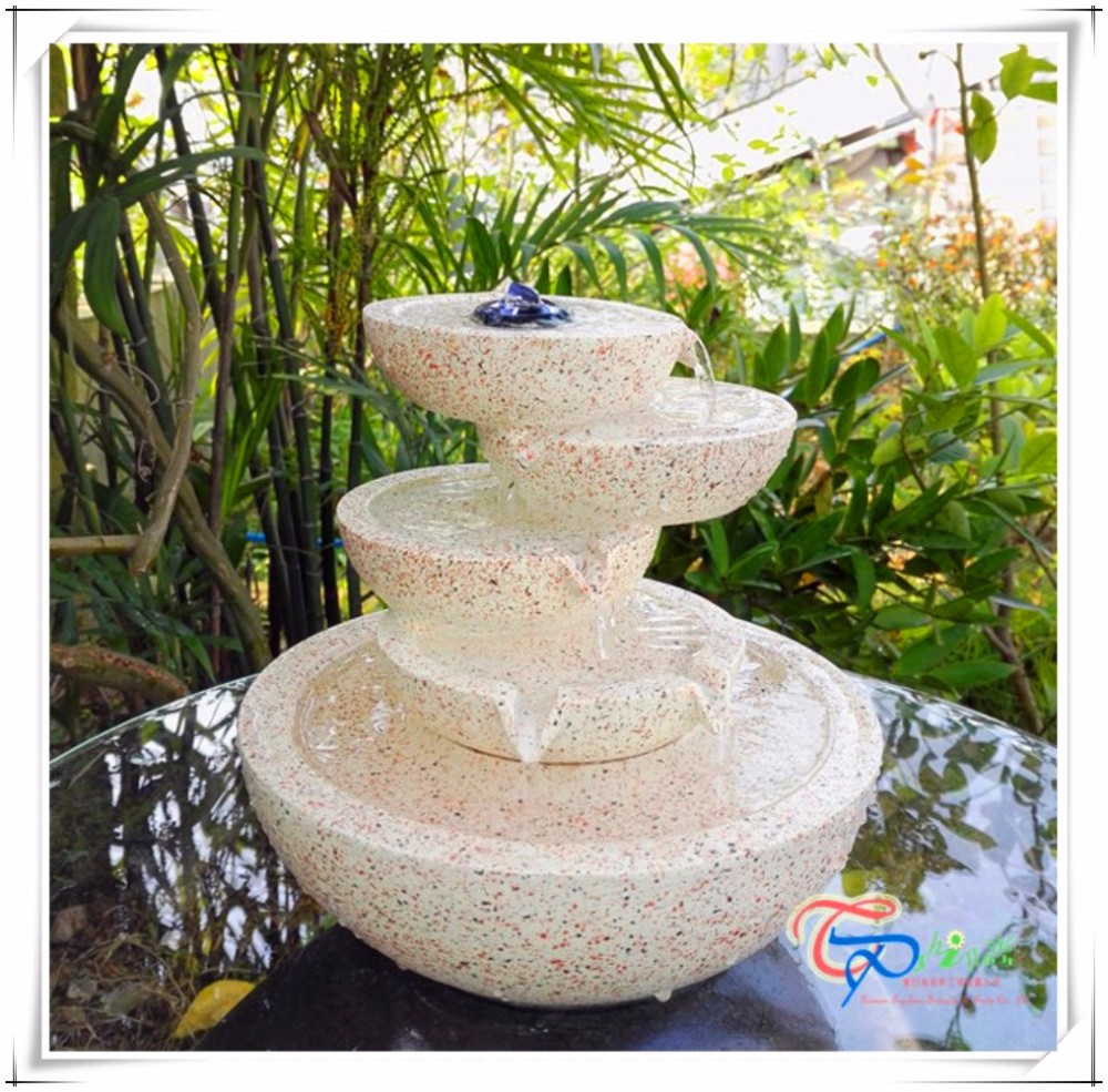 Resin mini tabletop waterfall bowls water fountain buy for Waterfall fountain