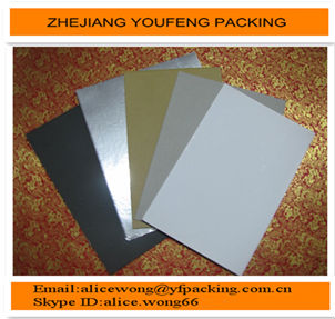 white & black aluminum foil paper cardboard for wrapping cigarette/food/chocolate