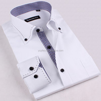 2018 Fashion Man White Business Shirt Latest Shirt Designs For Men Formal Shirt