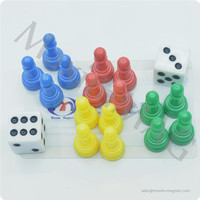 Magnetic plastic checker pieces