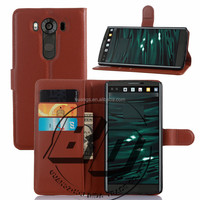 Newest Stylish Flip Magnetic wallet leather case with card slots For LG G4 pro/LG V10 mobile phone case cover
