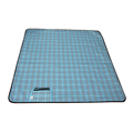 Multi-purpose Plaid Printed Waterproof Picnic Blanket/ Beach Blanket Mat with PVC Waterproof Backing