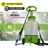 (0453) D-handle trolley power battery sprayer pumps mist/jet pattern weed killer sprayer backpack