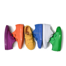 Autumn Candy Color Kids School Shoes Girls Boys Canvas Sneakers Children Shoes Hook & Loop Low Trainer Casual Flat Plimsolls