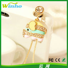 Winho new style crystal diamond customdust plug for attachment