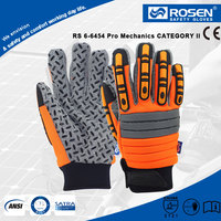 RS SAFETY Sewn impact knuckle protective Neoprene glove with reflective tape