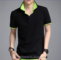 new fashion double collar polo t shirt men factory
