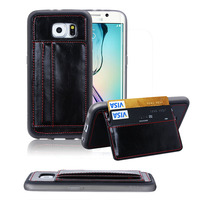 HOT new products With Card Holder Design Popular Unique Shockproof Case For Samsung galaxy S6 spots welcome to order