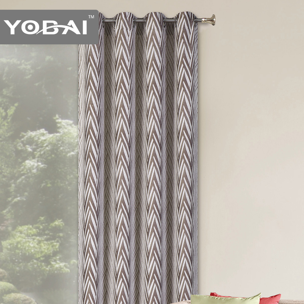 Custom 100% Polyester European Style Indian Arabic Jacquard Window Curtain Design In 2014