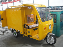 battery operated postal /delivery tricycle with roof and closed cargo box