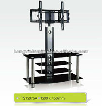 elegant glass Lcd stand with rotate bracket