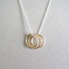 Trendy Jewelry Ring Charm Eternity <strong>Necklace</strong> Karma Triple Circle <strong>Necklace</strong>