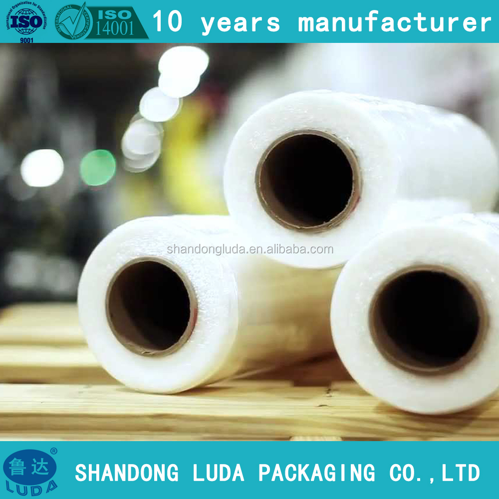 Stretch Film LLDPE jumbo roll power packaging shrink wrap for pallet