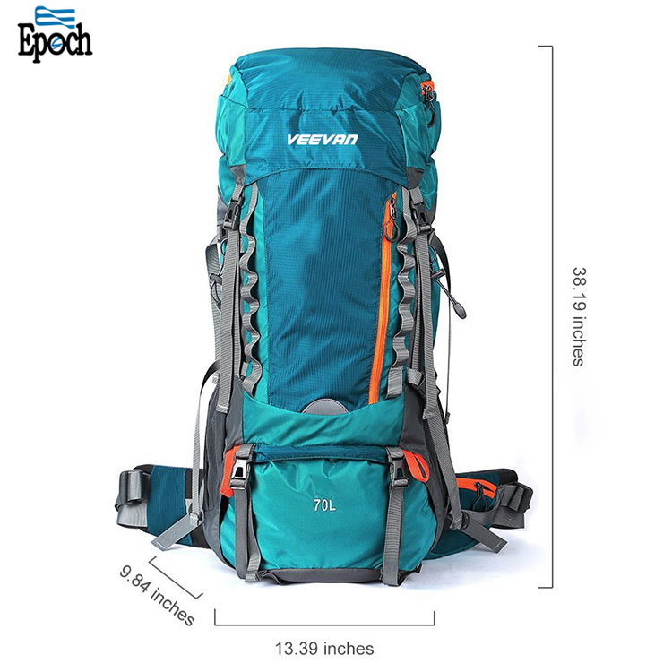 Epoch Waterproof large capacity 60L +10L outdoor hiking camping backpack,wholesale travel hunting back pack