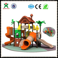 Eco friendly wood plastic composite playground with swing QX-018B