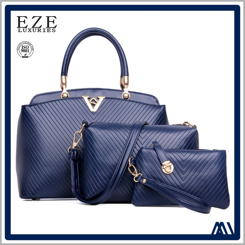luxury brand women 3 in 1 purses handbags from turkey