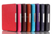 Newest Magnetic clasp Leather Cover For Amazon Kindle Voyage Crazy Horse Flip Leather Tablet PC Case
