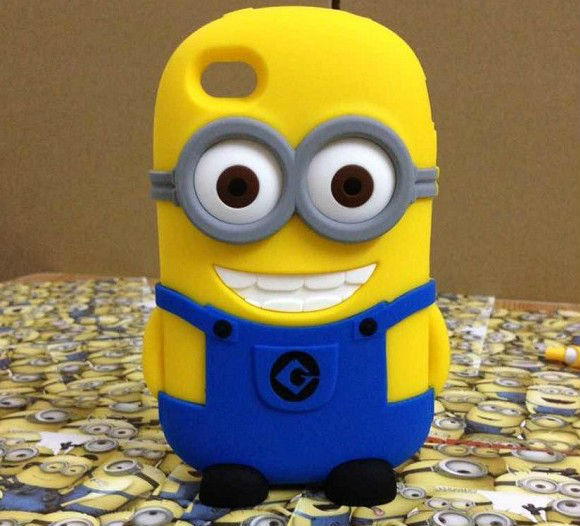 Despicable Me case For iPhone 4 4S 5 silicon 3D Animals Korean Soft silicone phone Case