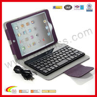 WYIPD-ABB013 For iPad Mini Leather Case With Keyboard
