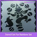 Novelty stencil set for kids,plastic stencil sets,painting art set