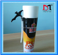 750ml gun type pu foam sealant for filling gaps, expanding waterproof foam, polyurethane foam factory