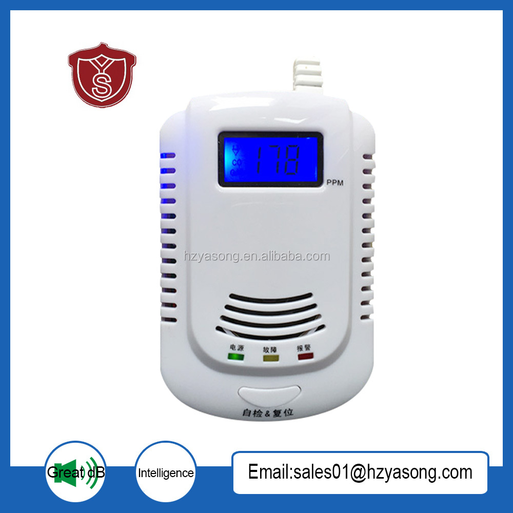 HA-02 Home intelligent voice natural gas and CO Compound alarm Wall-mounted