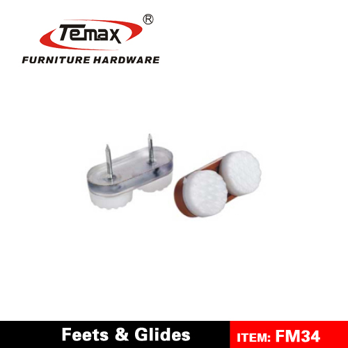 Temax plastic teflon furniture nylon chair glides