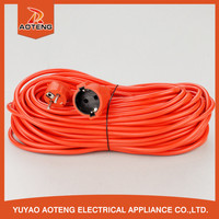 EU VDE H05VV-F 3X1.0MM2 Orange Red 16 amp extension cable