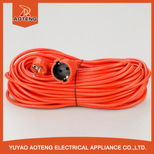 EU VDE <strong>H05VV</strong>-<strong>F</strong> 3X1.0MM2 Orange Red 16 amp extension cable