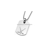 Stainless Steel Sporty Hockey Pendant