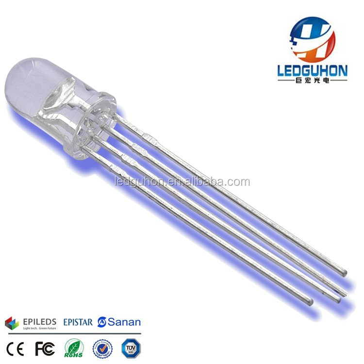 rgb led 5mm Round 4 pins LED Diode
