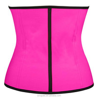 pink steampunk ladies Wholesale steel boned latex wasit burlesque corset training